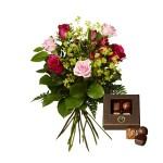 blommor och choklad leverans